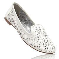 Buty wsuwane bonprix biały