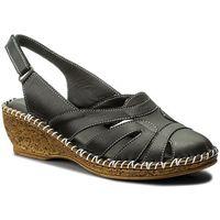 Sandały - 40c1431 black marki Lanqier