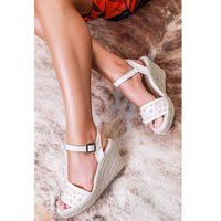 Damskie sandały MARIOLA ECRU, w 6 rozmiarach