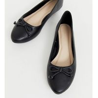 Truffle Collection Wide Fit Easy Ballet Flats - Black