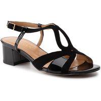 Sandały SAGAN - 3624 Czarny Lakier/Czarny Welur, kolor czarny