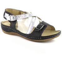 Sandały damskie Helios 215, kolor czarny