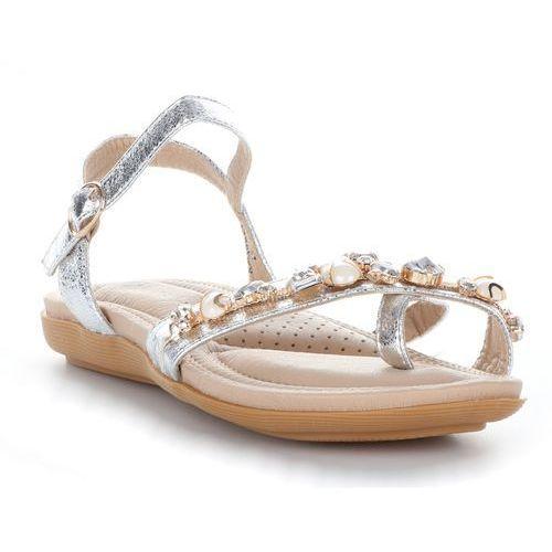 Gatisa Eleganckie sandały damskie firmy srebrne (kolory)