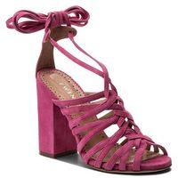 Twinset Sandały - sandalo cs8tdl provocateur pink 00803