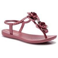 Sandały - floral sandal fem 82662 burgundy/rose 24753 marki Ipanema