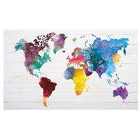 Canvas 70 x 118 cm kolorowa mapa 006