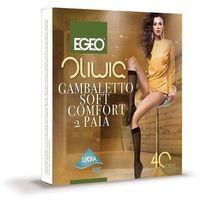 Podkolanówki Egeo Oliwia Soft Comfort lycra 40 den A'2 uniwersalny, beżowy/visone, Egeo
