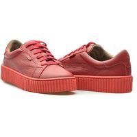 Półbuty Nessi 17111 Czerwone 411 lico, kolor czerwony