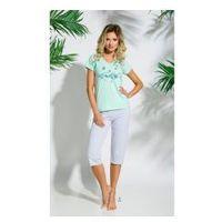 Piżama damska TARO 086 Sylwia miętowa, kolor zielony