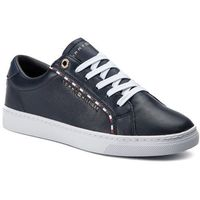 Sneakersy TOMMY HILFIGER - Corporate Detail Sneaker FW0FW04149 Midnight 403, w 7 rozmiarach