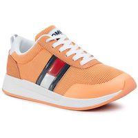Sneakersy TOMMY JEANS - Technical Flexi Runner EN0EN00875 Melon Orange SC1, w 6 rozmiarach