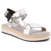 Espadryle TOMMY JEANS - Fresh Modern Metallic Sandal EN0EN00218 Silver 000