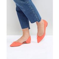 ASOS LEGENDARY Pointed Ballet Flats - Orange, kolor pomarańczowy