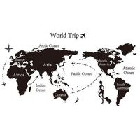 Naklejka dekoracyjna World trip mapa Świata