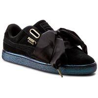 Sneakersy - suede heart satin wn's 362714 03 puma black/puma black, Puma