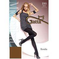 Gatta Rosalia 100 den rajstopy t-band, kolor czarny