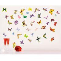 Naklejka dekoracyjna zlot motyli romantyka marki 4home