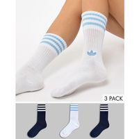 Adidas originals crew sock 2 pack in blue and white - blue