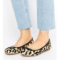 Dune london wide fit leopard print ballet flat shoes - black marki Dune wide fit