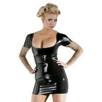 Latex Lateksowa mini sukienka, rozmiar: xl, kolor: czarny