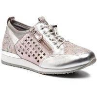 Sneakersy CAPRICE - 9-23500-22 Soft Pink Comb 594, kolor szary