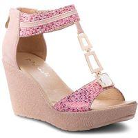 Sandały R.POLAŃSKI - 0938 Fuksja Carnivale, kolor różowy