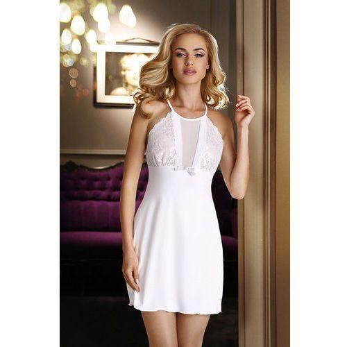 Eldar Biała elegancka koszula nocna z wiskozy emi