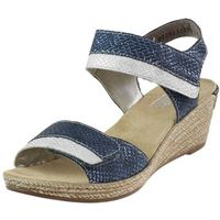 Sandały Rieker 62470 - Granatowe 14