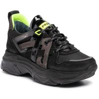 Sneakersy BRONX - 66280-BP BX1525 Black/D. Grey/N. Yellow 3242, w 6 rozmiarach