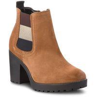 Botki TOMMY JEANS - Essential Mid Heel B EN0EN00332 Winter Cognac 906, kolor brązowy