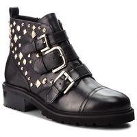 Botki STEVE MADDEN - Sparkie Ankleboot SM11000071-03001-017 Black Leather, w 5 rozmiarach