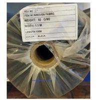 Agrowółknina ściółkujaca pp 50 g/m2 czarna 1,1 x 100 mb. bez uv.rolka o wadze 8,6 kg. marki Agrokarinex