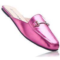 Klapki różowy metaliczny marki Bonprix