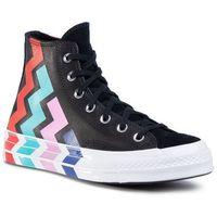 Sneakersy - chuck 70 hi 567047c black/black/university r marki Converse