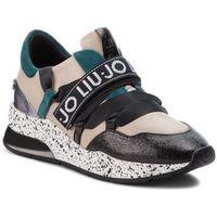 Sneakersy LIU JO - Karlie 03 B68001 PX001 Black/Nude/Peacock S19A1
