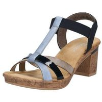 RIEKER Sandały z rzemykami beżowy / niebieska noc / jasnoniebieski / jasnobrązowy, w 7 rozmiarach