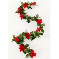 Bonprix Girlanda z gwiazd betlejemskich czerwono-zielony