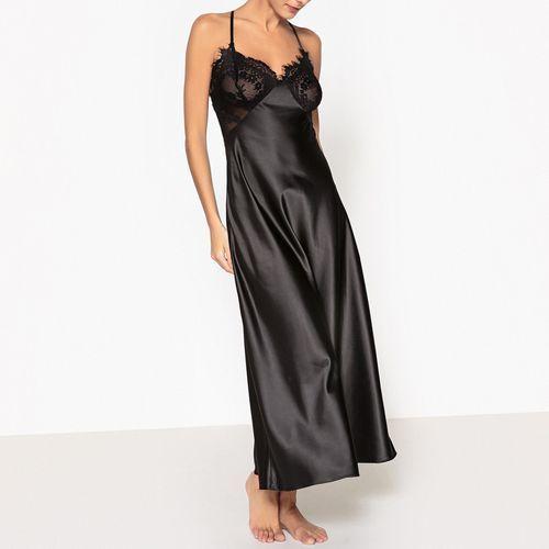 Długa koszula nocna z satyny marki La redoute collections