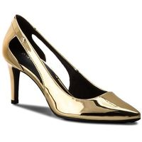 Szpilki TOMMY HILFIGER - Mirror Metallic Cut Out Pump FW0FW02972 Light Gold 708, 36-40