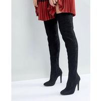 Call It Spring Black Over the Knee Boots - Black, kolor czarny