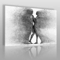 Metafizyka miłości w szarościach - nowoczesny obraz na płótnie marki Vaku-dsgn