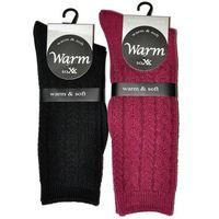 Wik Skarpety warm&soft art.38920 damskie rozmiar: 35-38, kolor: czarny/nero, wik
