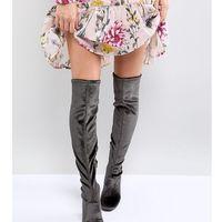 Miss selfridge velvet over the knee boot - multi