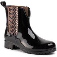 Tommy hilfiger Kalosze - monogram rainboot fw0fw04592 black bds
