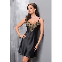 Koszulka nocna Koszulka Nocna Model Luna Black/Gold - Irall