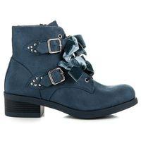 Botki z kokardami marki Buty ideal shoes