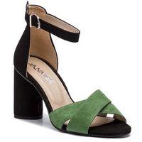 Ann mex Sandały - 0222 13wj 01w czarny zielony