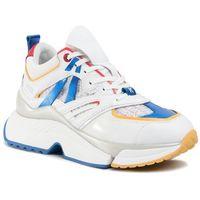 Sneakersy KARL LAGERFELD - KL61637 White Lthr/Textile W/Multi, kolor biały