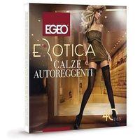 Pończochy Egeo Erotica Microfibra 40 den 1/2, szary/antracit, Egeo, 008240000811