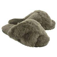 EMU AUSTRALIA W11573 MAYBERRY charcoal, kapcie damskie - Szary, kolor szary